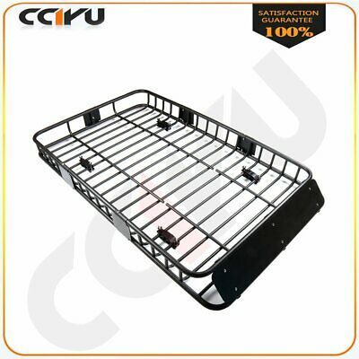 """Universal 63/"""" Black Roof Rack Extension Cargo Top Luggage Hold Carrier Basket"""