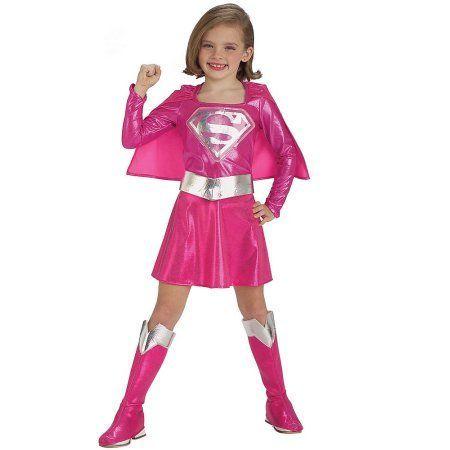 pink supergirl child halloween costume girls size 3t 4t pink costumes and halloween costumes girls - 4t Halloween Costumes Girls