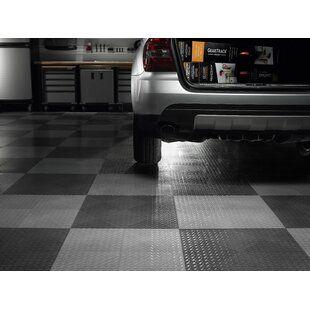 Rubber Cal Inc Diamond Plate Garage Flooring Roll In Black Wayfair Garage Floor Mats Garage Floor Tiles Garage Floor