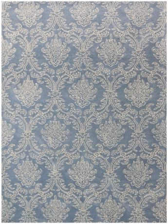 Blue French Toile Trellis Area Rug 8x10