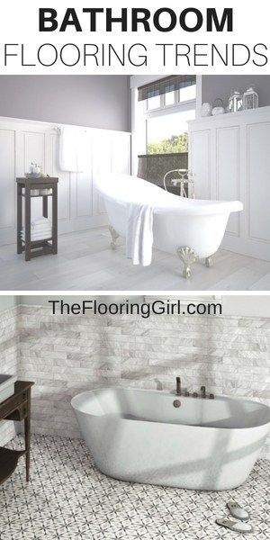 Top 7 Bathroom Flooring Trends For 2019 Tile The Flooring Girl Frames But White In A Bathr Bathroom Flooring Trends Flooring Trends Bathroom Trends New top ceramic bathroom floor