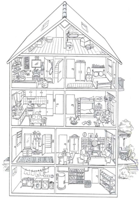 touch this image das hausmadameb  coloriage maison