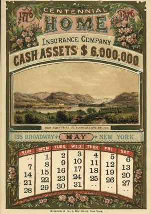 Centennial Home Insurance Company Calendar By West Point Revolutionary War On Home Insurance University Of