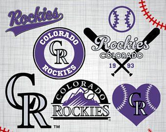 Rockies EPS printable art Rockies cricut Baseball silhouette Sports silhouette Rockies SVG Rockies cut file Colorado Rockies logo