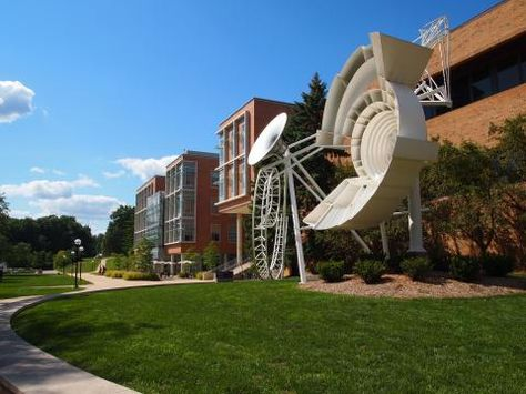Sculpture garden on North Campus, a must for future students in the architecture program!