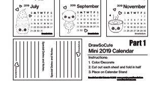 2019 Calendar Calendar Cute Calendar
