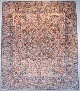 7659 Laver Kerman Persian Antique Rug 11 6 X 13 5 Antique Oriental Rugs In 2020 Oriental Persian Rugs Rugs Antique Persian Rug