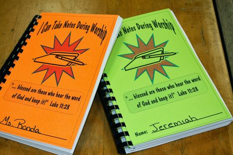 Hands On Bible Teacher: Worship Notebook. Paying attention during Worship. Kiddos Listening to a Sermon. Kiddos can LEARN during WORSHIP. Keeping KIDDOS busy during the WORSHIP HOUR.