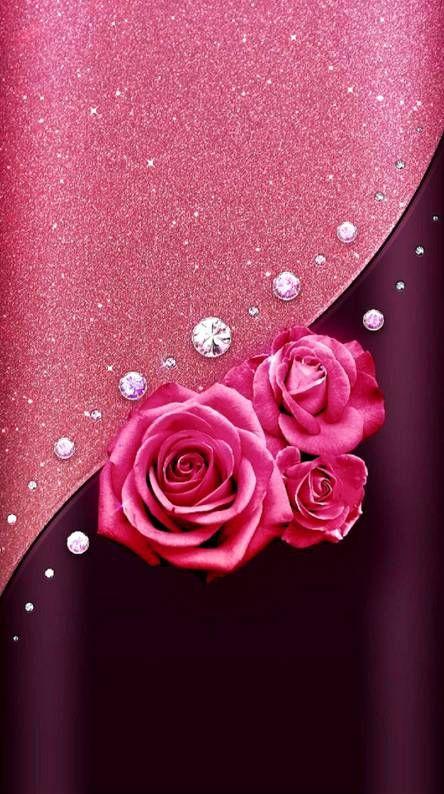 Edge Pink Rose Flower Phone Wallpaper Cute Flower Wallpapers Rose Flower Wallpaper