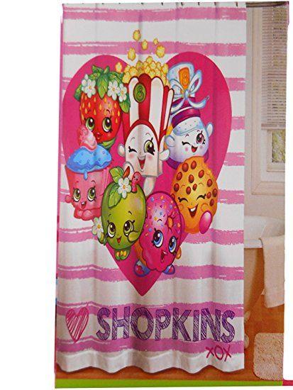 Shopkins Shower Curtain Kids Bathroom 72x72 Review Kids Shower