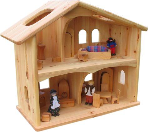 Maison de poupée en bois  idées DIY pour faire heureux vos enfants