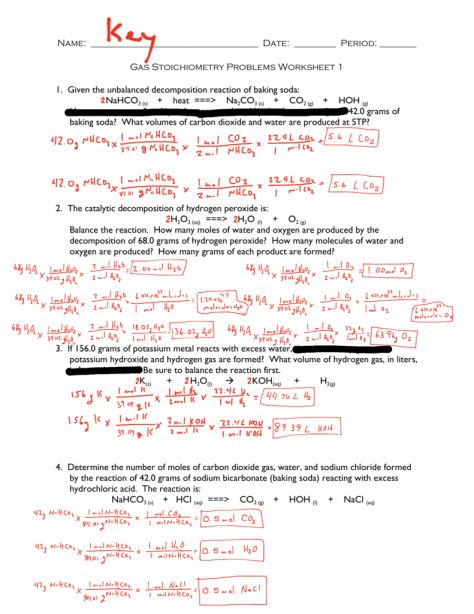 10 Gas Stoichiometry Worksheet Answers And Work Work
