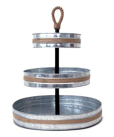 This Mesa Home 3 Tier Galvanized Tray Is Perfect Zulilyfinds Tiered Serving Stand Galvanized Tray Tiered Tray