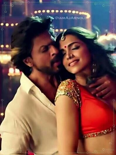 SRK and Deepika as Charlie and Mohini in Happy New Year (2014)