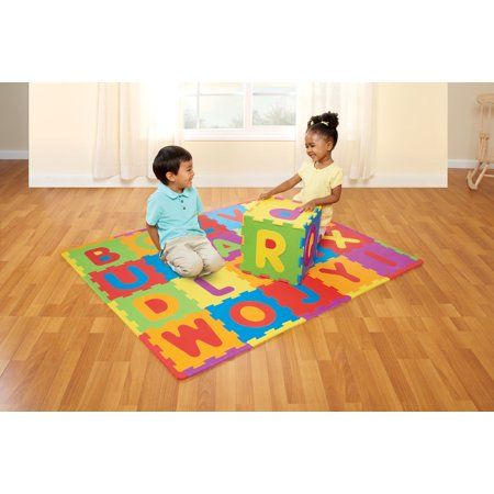 Spark Create Imagine Abc Foam Playmat Learning Toy Set 28 Pieces Walmart Com In 2020 Playmat Learning Toys Toy Sets