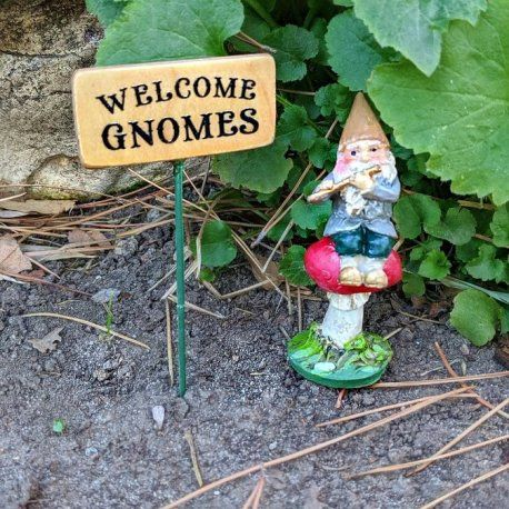 Welcome Gnomes Sign In 2020 Fairy Garden Sign Miniature Sign Gnomes