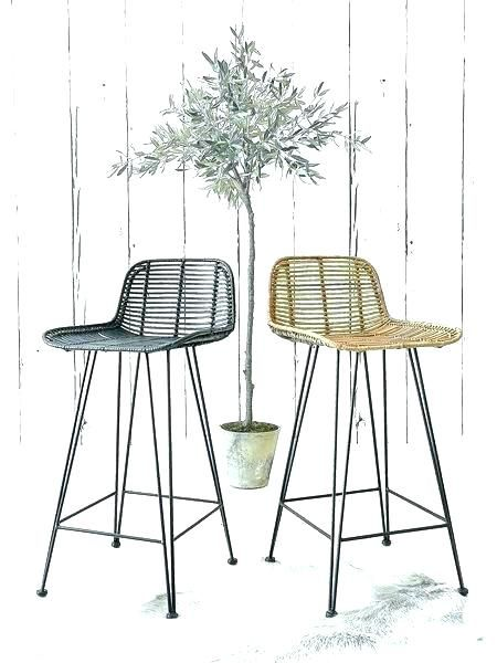 Astounding Wicker Bar Stools Back Dining Room Lovely Rattan Stool With Machost Co Dining Chair Design Ideas Machostcouk