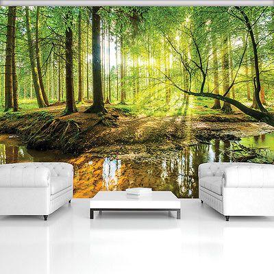 VLIES  WANDBILD TAPETEN FOTOTAPETE Baum Wald Landschaft MIX