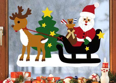 Auf Zur Bescherung Weihnachten Basteln Tonkarton Fensterbilder Weihnachten Basteln Weihnachten Basteln Vorlagen