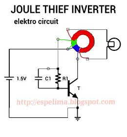 Joule Thief Inverter With Ferrite Toroidal Trifilar Coil Rangkaian Elektronik Teknologi Elektronik