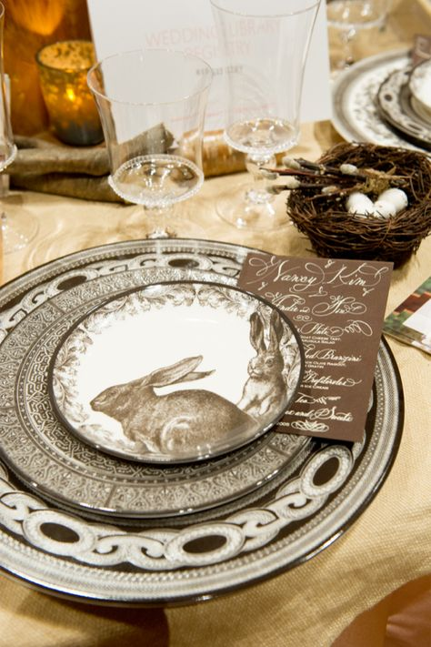 Easter - brown and white -