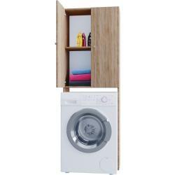 Waschmaschinenschrank Vandol Sonoma Eiche 64 Cm Rollerroller Badschrank Sonoma Eiche Und Nussbaum Farbe