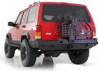 Xrc Rear Bumper W Hitch And Tire Carrier 84 01 Cherokee Xj Black