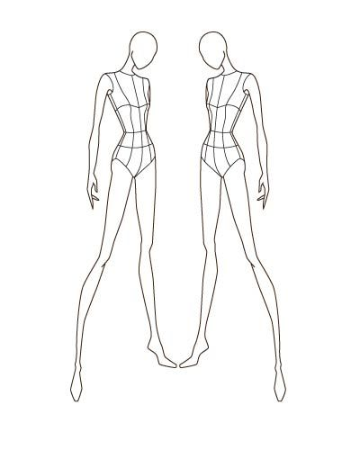 Fashion Sketch Templates Fashion figures, Template and Clothing - blank fashion design templates