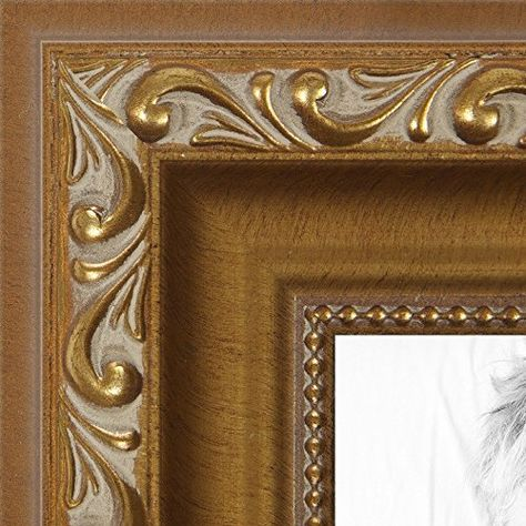 Arttoframes 10x15 10 X 15 Picture Frame Gold With Beads 1 625 Wide 2womd10051 You C Wood Poster Frames Gold Picture Frames Wood Picture Frames