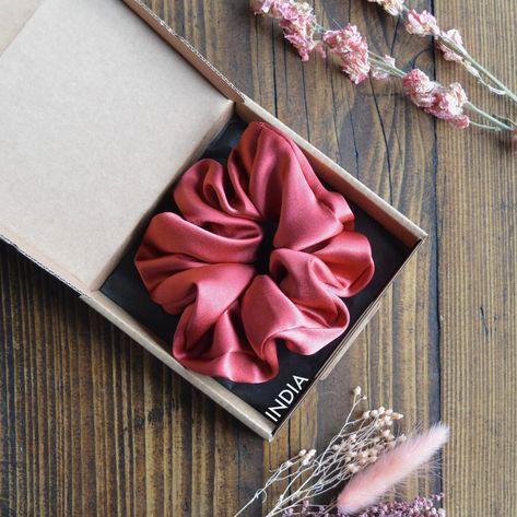100% Mulberry Silk Scrunchie | Autumn Tones | Pure Mulberry Silk | Silk Hair Tie |
