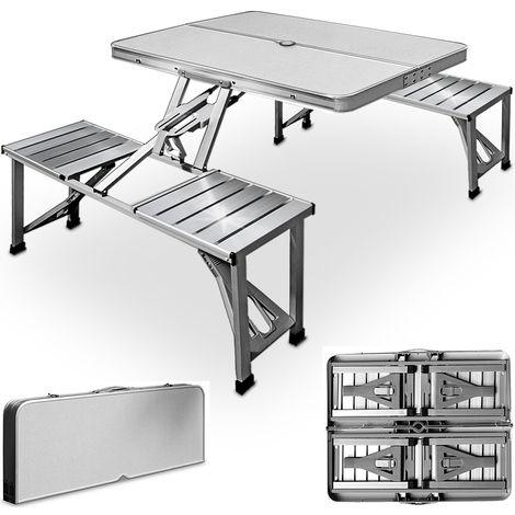 Table De Pique Nique Portable Aluminium Malette Emplacement Parasol 100552 Outdoor Furniture Table Chairs Furniture