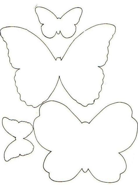 Kelebek Kaliplari Boyama Kelebekler 3d Kartlari Aplike