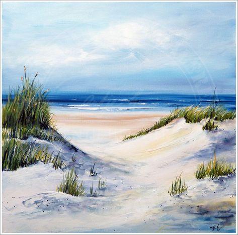 Strand Dunen Malen Malerei Dunen Malen Malerei