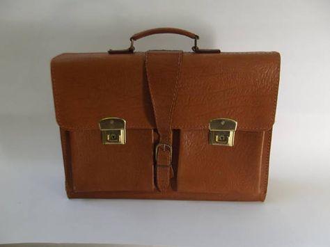 81e7229ecce vintage jaren 70 school tas akte tas documenten tas laptop ...