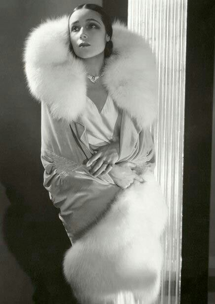 Augusta Bernard, white fox on grey valentine, 1929