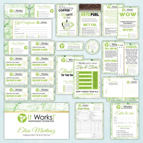It Works Marketing Bundle, Personalized It Works Package IW13 - 48 hours