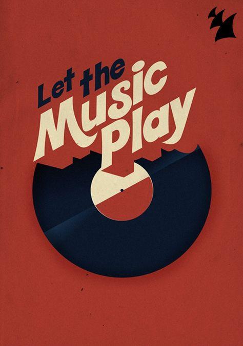 Let the music play (preferably vinyl! Vinyl Music, Vinyl Art, Vinyl Records, Vinyl Poster, Music Music, Vinyl Junkies, Music Images, Art Graphique, House Music