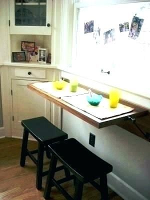 Drop Down Kitchen Table Amazing Wall Mounted Table Kitchen Folding