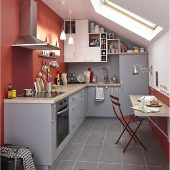 Meuble De Cuisine Gris Delinia Delice Leroy Merlin Amenagement