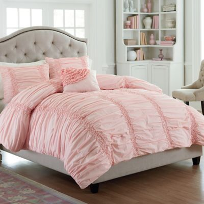 Mary Jane's Home Cotton Clouds Full/queen Comforter Set In Pink