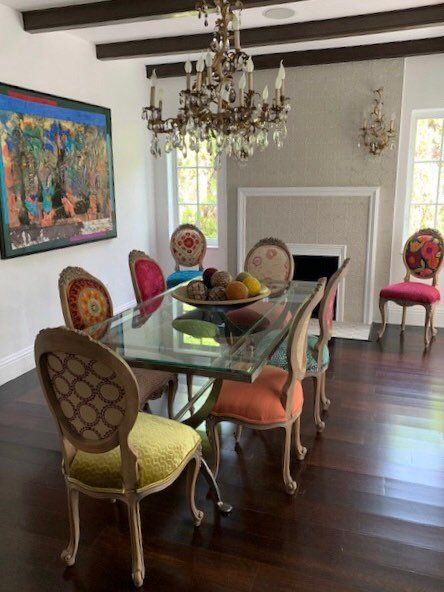 Eclectic Boho Dining Chairs Boho Dining Chairs Dining Chairs French Dining Chairs