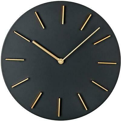 Motini Modern Wall Clock 11 Inch Round Creative Quartz Wall Clocks Decorative Fo In 2020 Black Wall Clock Wall Clock Wall Clock Modern