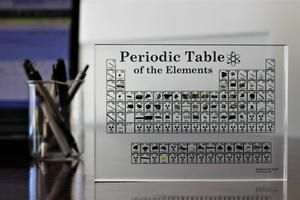 Acrylic Periodic Table 85 Digits Collector/'S Edition Chemical Periodic Table