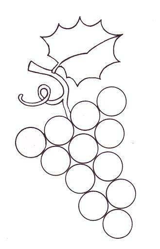 Los Racimos De Uvas En Plastilina Con Gomets En Septiembre La