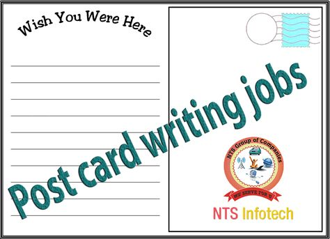 nts infotech offer post card writing job to members can work at  nts infotech offer post card writing job to members can work at home and get regular salary more detail goo gl d2co5q