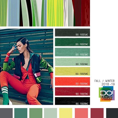color report on Contemporary Activewear Mood details: Boxed Rhythm, detail.