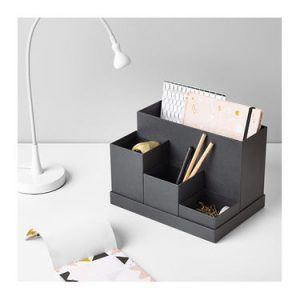 12 Ikea Products You Don T Need To Hack James And Catrin Small Desk Organization Desk Organization Workspaces Desk Organization