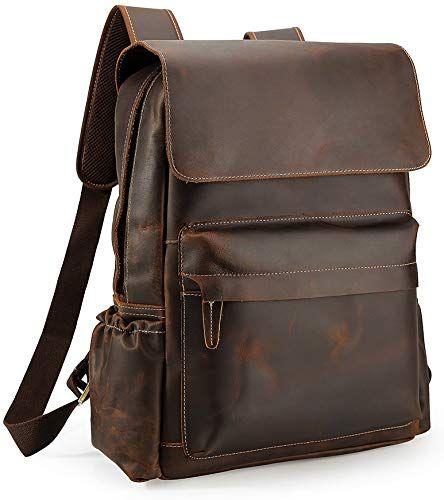 Mens Backpack Genuine leather Travel Outdoor Bag Rucksack Vintage Men Bags