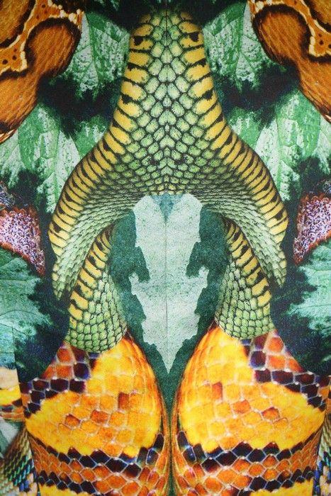 Lot 344 - An Alexander McQueen reptile-print organza dress,
