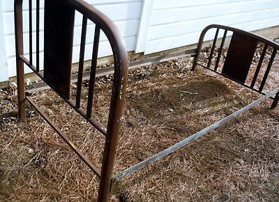 Antique Metal Bed Frame Twin In 2020 Metal Bed Frame Twin Bed